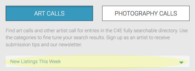 C4E New Listings Interface